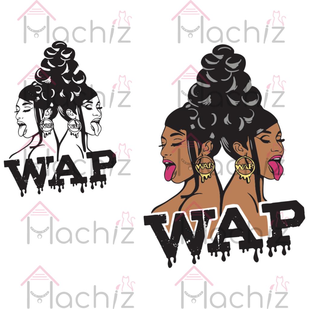 Wap Cardi B And Meg Thee Stallion Trending Svg Afro Woman Svg Black Girl Magic Svg Black Women Svg Black Girl Svg Li Clip Art Black Girl Magic Afro Women