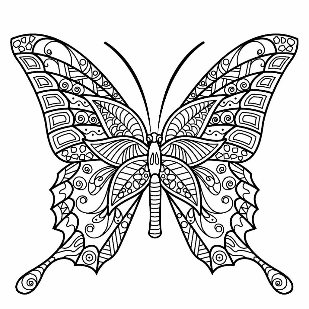 Pin By Diana Kostak On Color Me Happy Butterfly Coloring Page