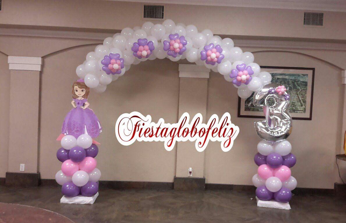 Como hacer un arco de la princesa sofia con globos Hip hop