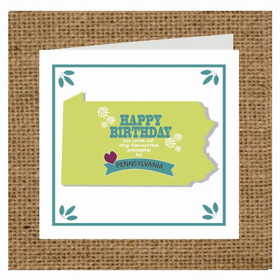 Pennsylvania State Gift Tags