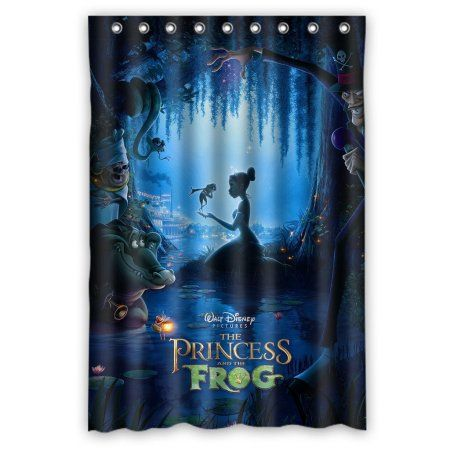 Buy DEYOU Princess And The Frog Shower Curtain Polyester Fabric Bathroom