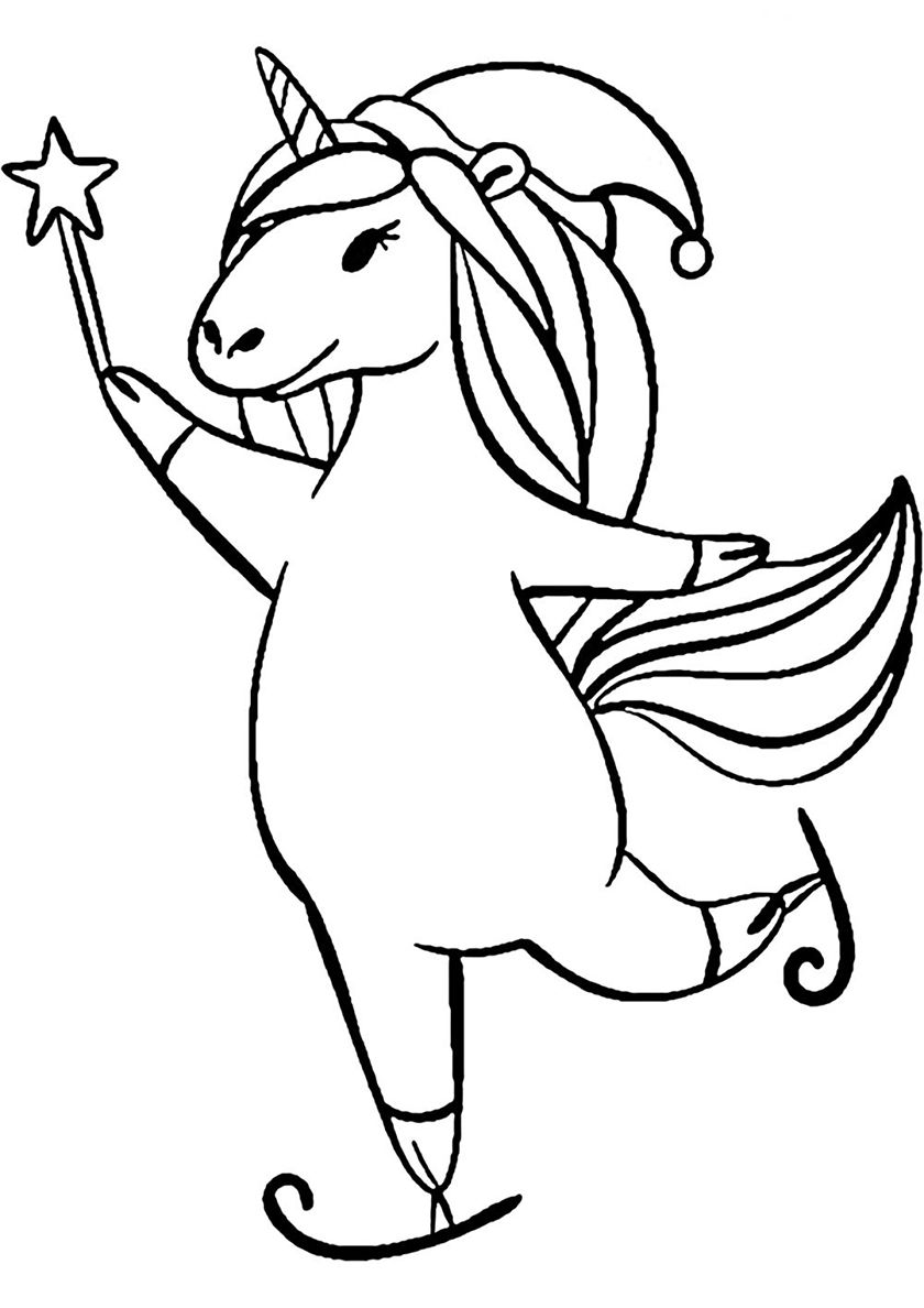 Skating - high-quality free coloring from the category: Unicorn. More  printable pictures on our website: BabyHouse.info!