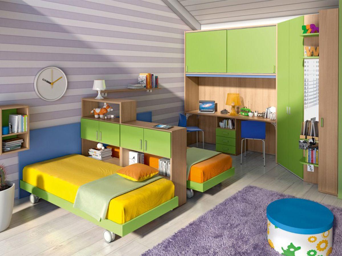 cameretta completa per bambini con due letti | Minha casa ...