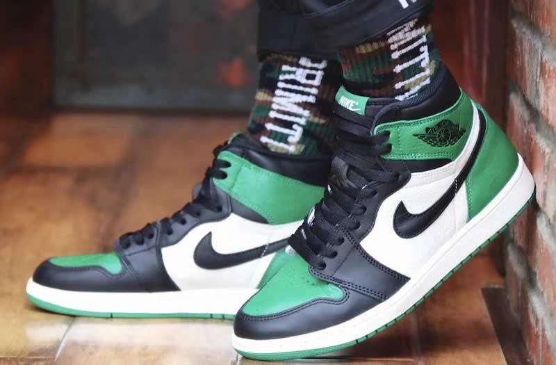 Air Jordan 1 Retro High Og Pine Green Shoes 555088 302 On Feet Image Anpkick Com Sneakers Air Jordans Retro Air Jordans