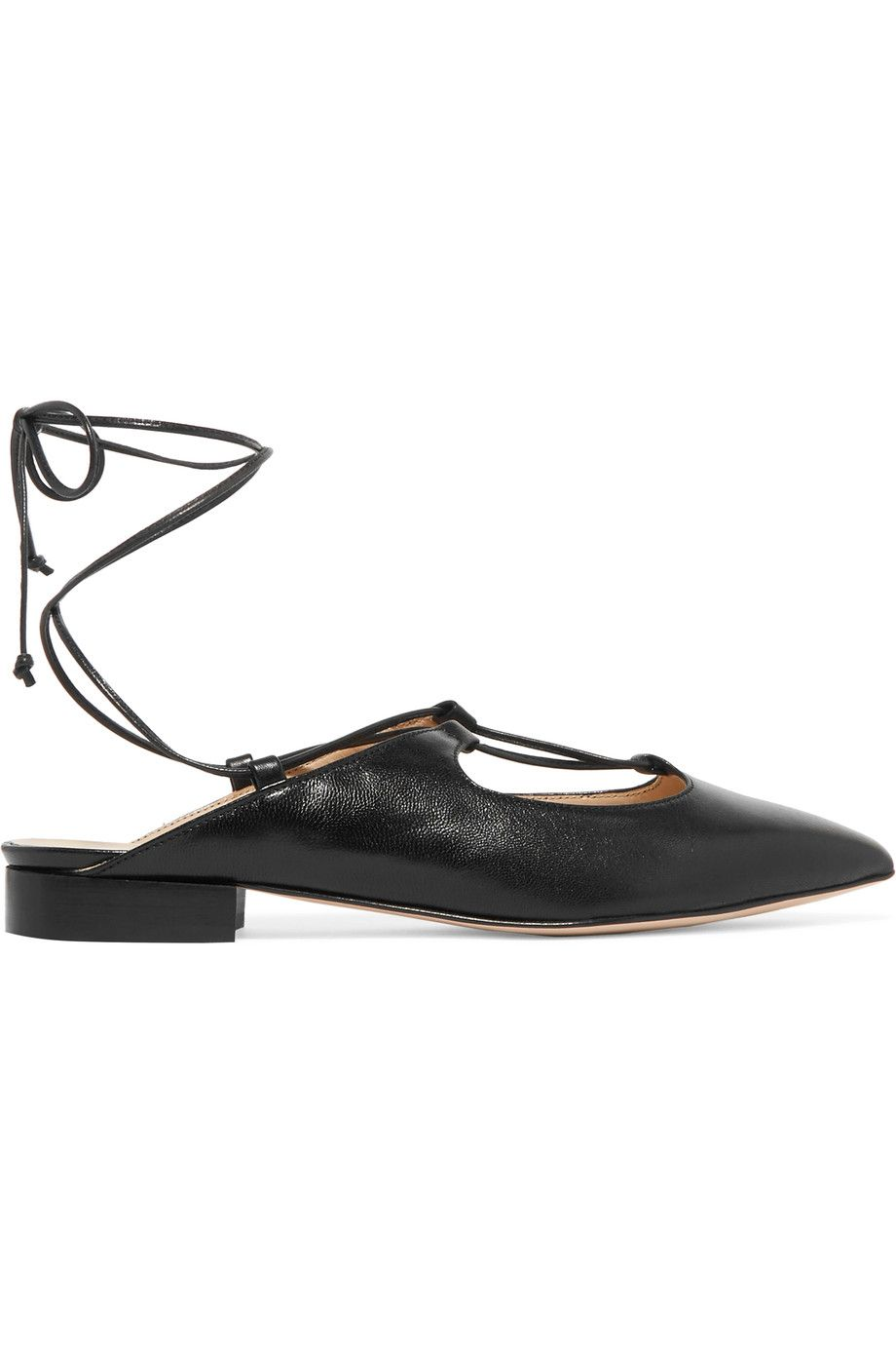 Shop on-sale Iris and Ink Lace-up leather slippers. Browse other discount  designer Flat Shoes & more on The Most Fashionable Fashion Outlet, THE  OUTNET.