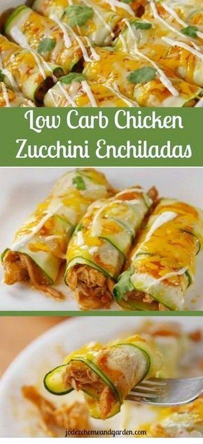 Chicken Zucchini Enchiladas  Low Carb Recipe  Keto Diet Meal Plan