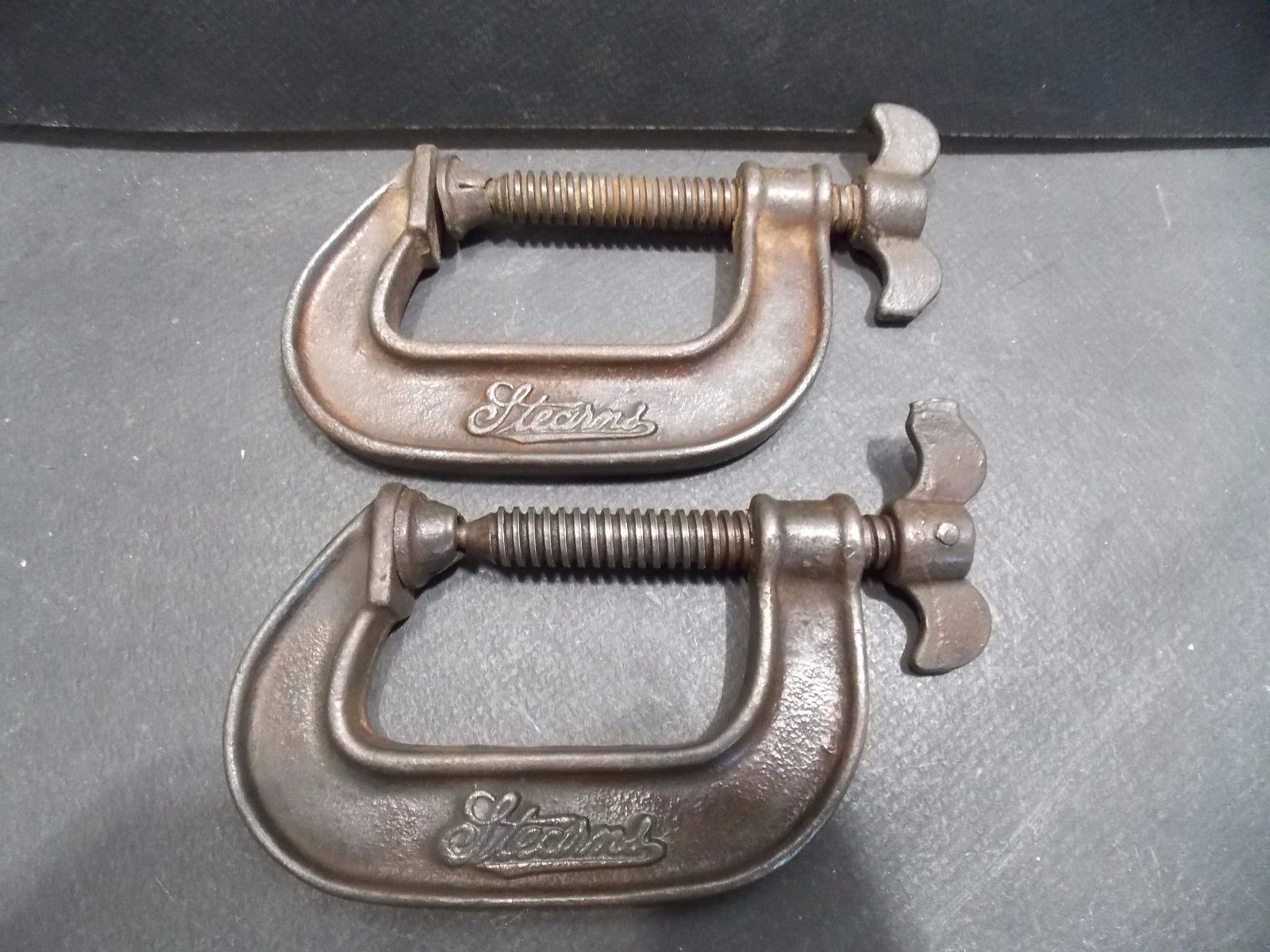 2 Vintage Stearns Butterfly Wing C Clamps 2 1 2 034 Ebay Antique Tools Old Tools Butterfly Wings