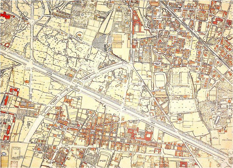 Planol De Parcelaris Fet Entre 1930 I 1940 Pel Servei Topografic