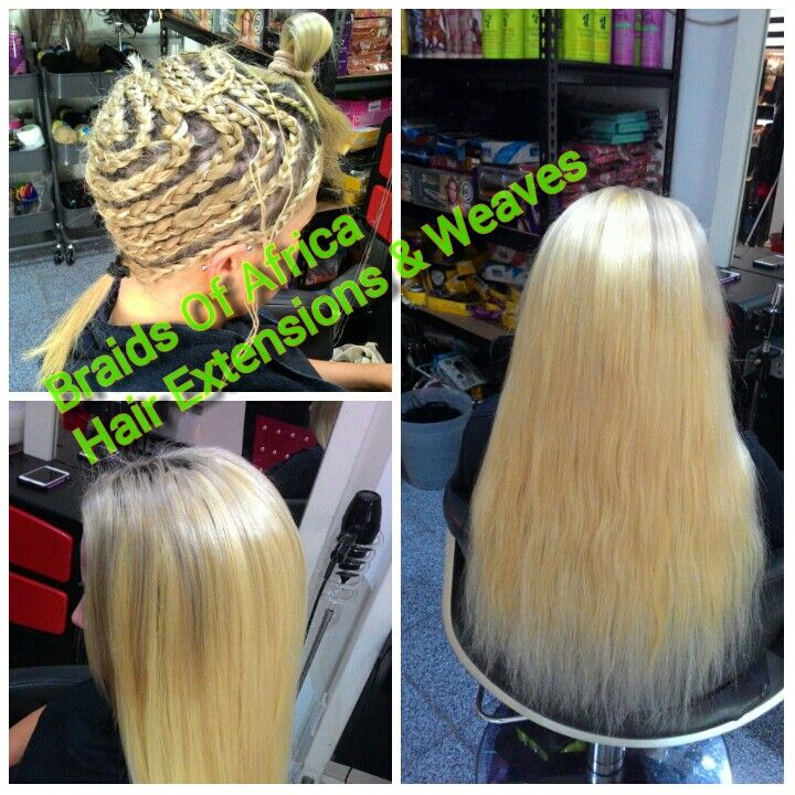 Full Head Weave Hair Extensions With A Leave Out Braids Of Africa