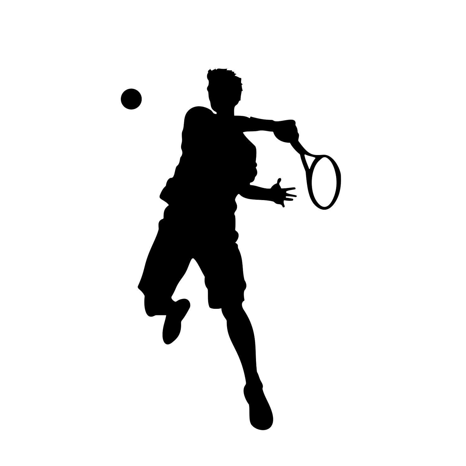 Tennis Player Graphics SVG Dxf EPS Png Cdr Ai Pdf Vector ...