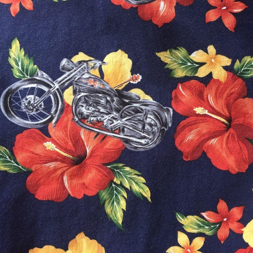 de40e8fe Hilo Hattie Hawaiian Shirt Mens Size 3x Motorcycle Bike Hibiscus Flowers  Hawaii #HiloHattie #Hawaiian