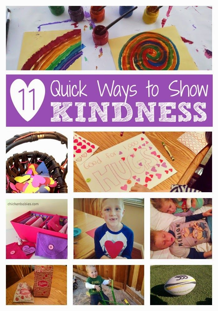 11 Quick Ways to Show Kindness Kindness activities