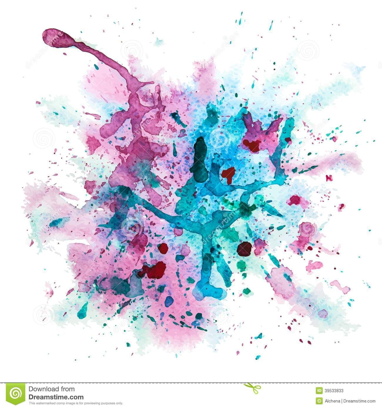 Download Watercolour Splatter In Rainbow Colours For Free In 2020