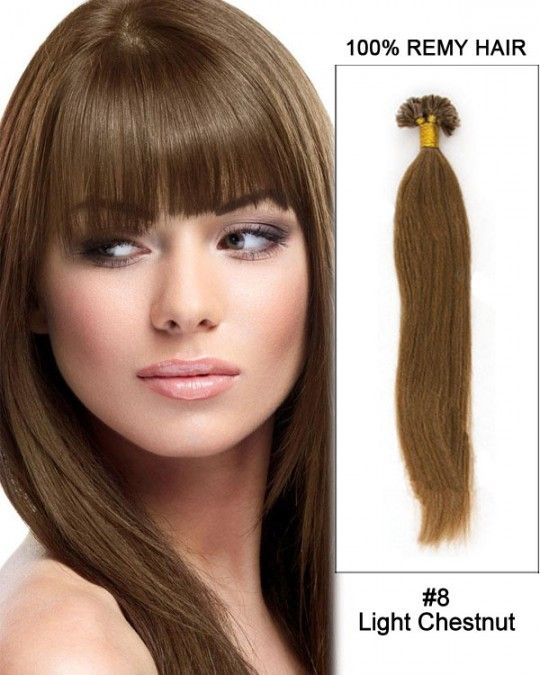 Wholesale 18 24 8 Light Chestnut Straight 100 Remy Hair Human