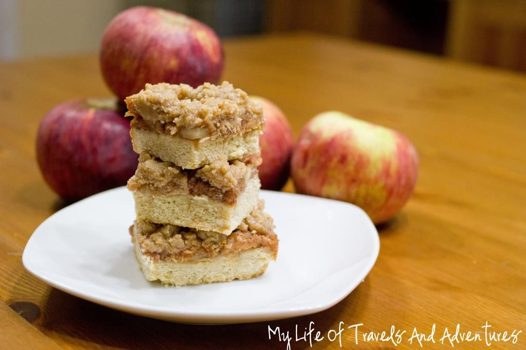 Apple Pie Bars    Created by My Life of Travels and Adventures