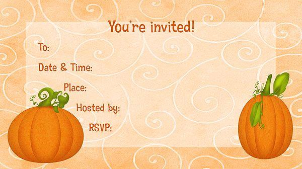 pumpkins free printable fill in invitations lyla s 6th birthday