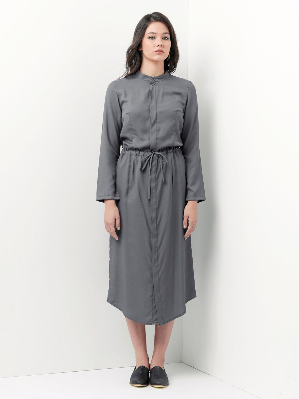 Sale maxi dress gray dress buttoned dress cocktail dress