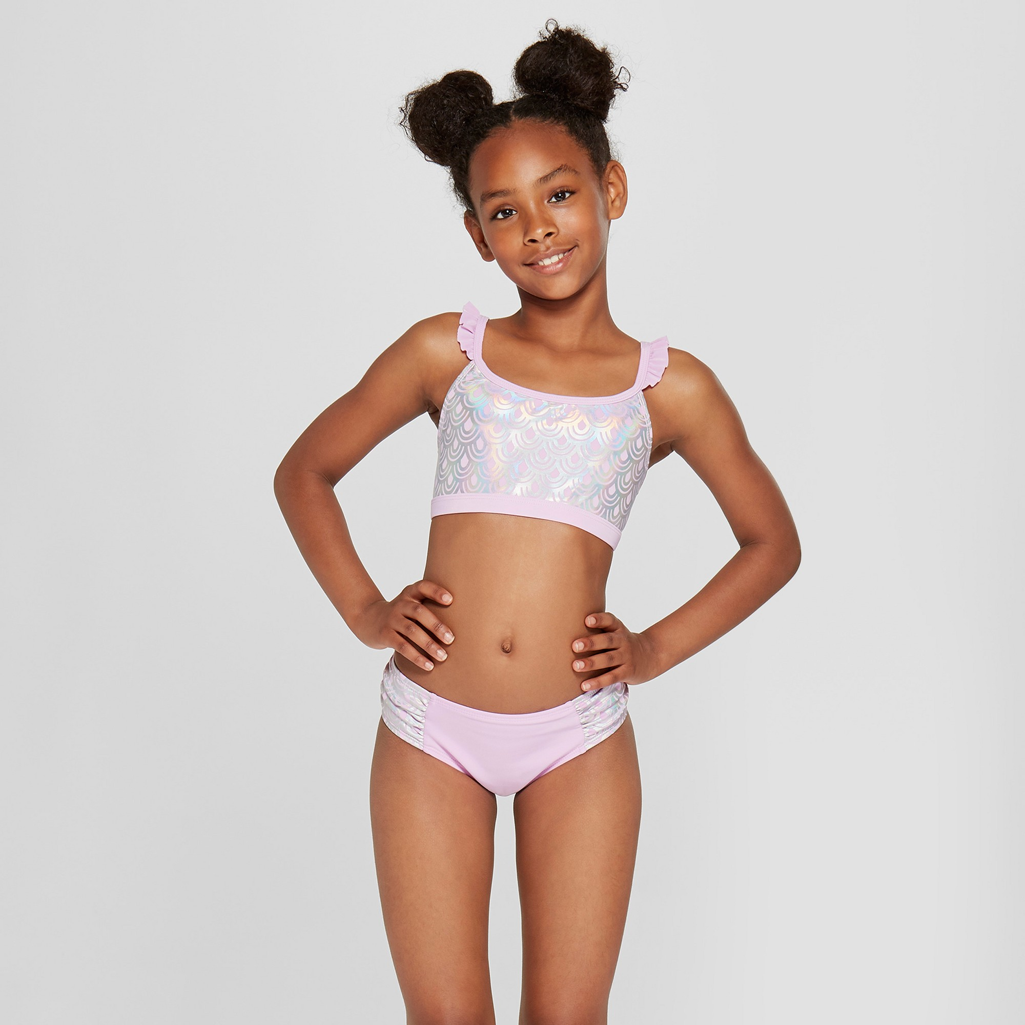 Young little girls bikini models