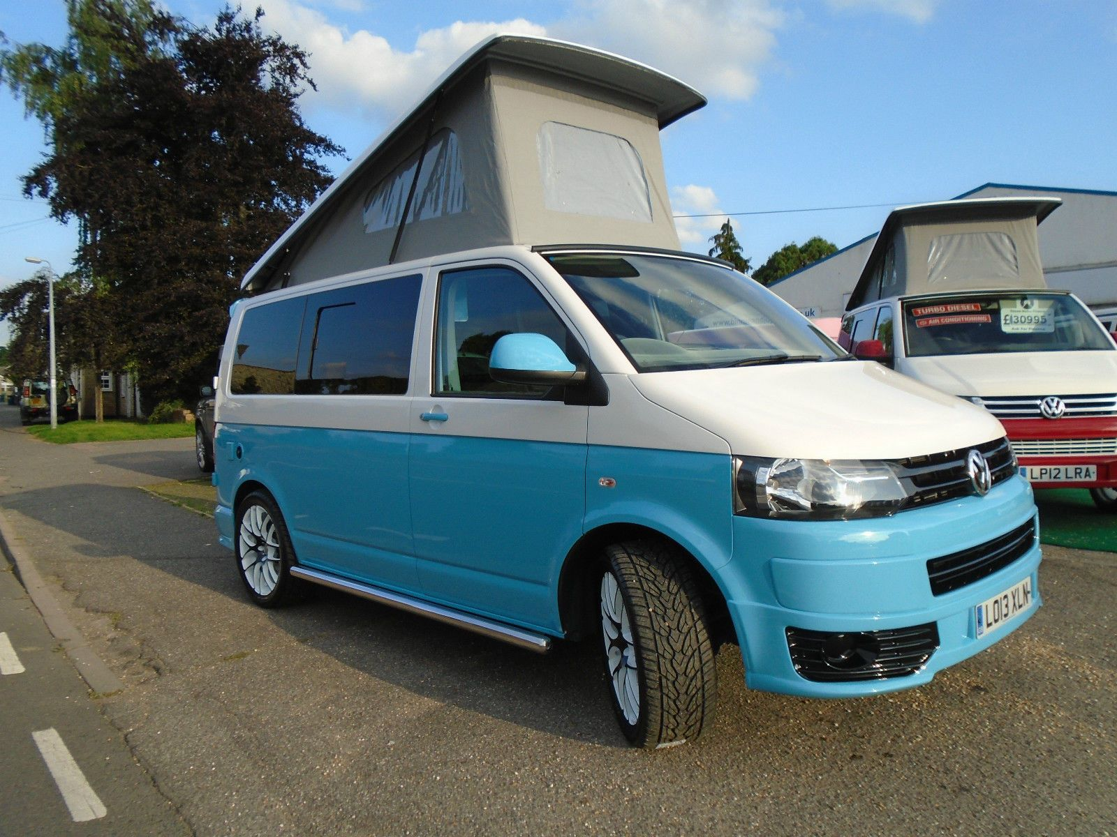 2013 volkswagen transporter t5 a c 102ps brand new retro camper van conversion t5 camper van. Black Bedroom Furniture Sets. Home Design Ideas