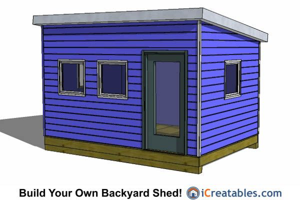 office shed plans. 10x14 Modern Studio Office Shed Plans