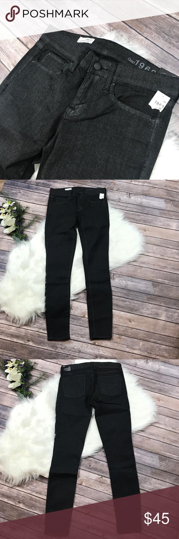 GAP 1969 Glitter Jeans GAP 1969 Black Glitter Skinny Jeans
