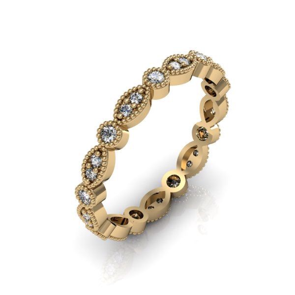 14K Yellow Gold Art Deco Antique Style .36cts  Diamond Eternity Band Anniversary Ring by Majesticjewelry99 on Etsy https://www.etsy.com/listing/180471878/14k-yellow-gold-art-deco-antique-style