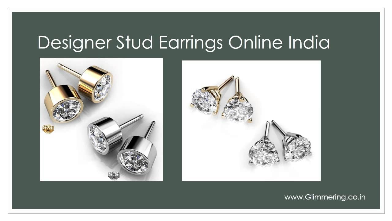 Glimmering Swarovski Elements Fashion Stud Earrings For Women At Low Price In India