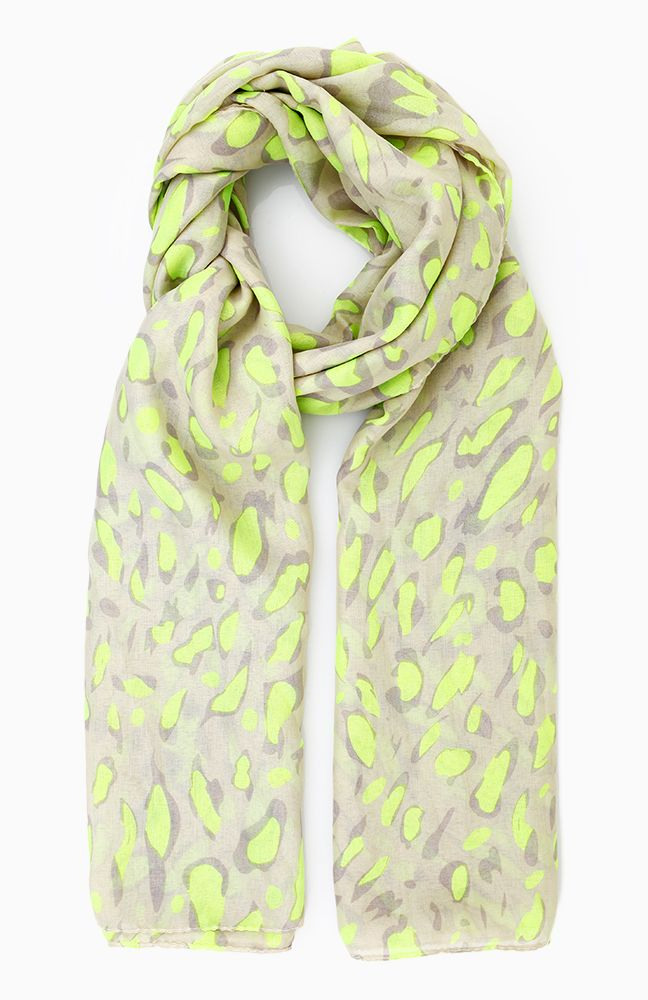 3310355250 Neon Leopard Scarf in Green | My Style | Leopard scarf, Fashion ...