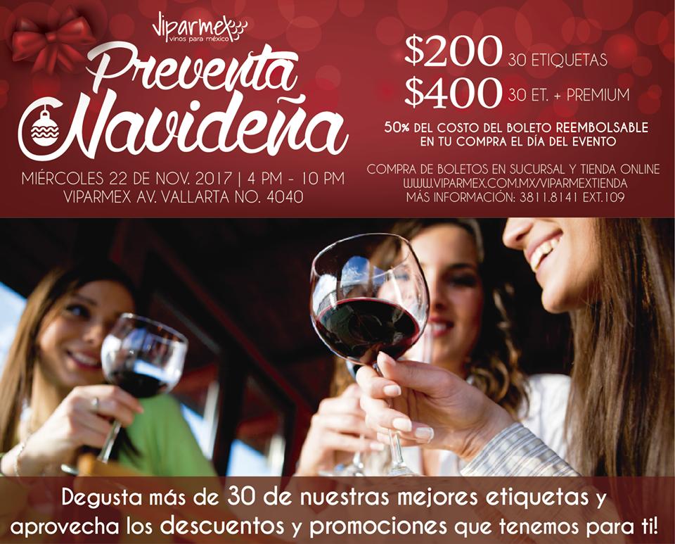 Preventa navideña en Viparmex |  22 noviembre #vino #Guadalajara