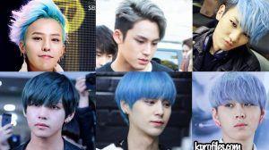 Kpop Blue Hair Hair Styles Boys Blue Hair Blue Hair