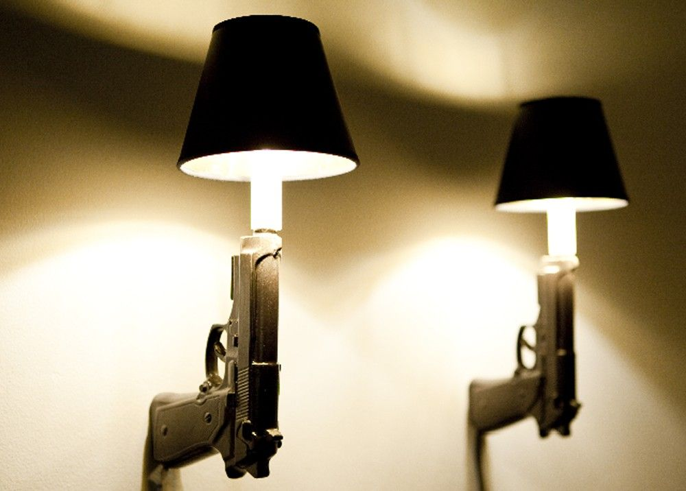 9mm Gun Sconce Guns