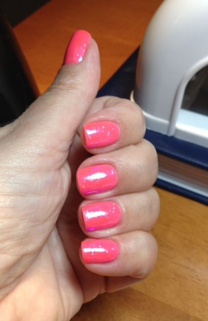 Ibd Just Gel Tickled Pink With A Layer Of Translucent Glitter Scrubbed In Gorgeous Colour