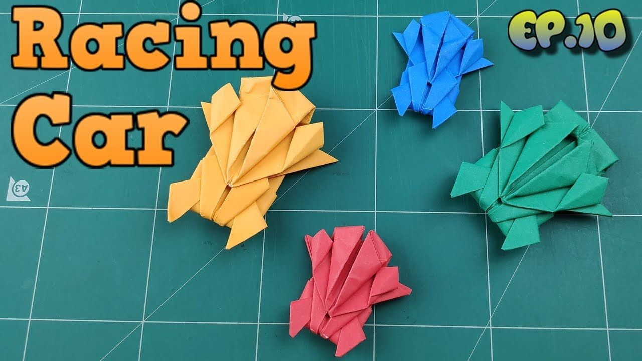 13+Easy Origami Race Car Instructions