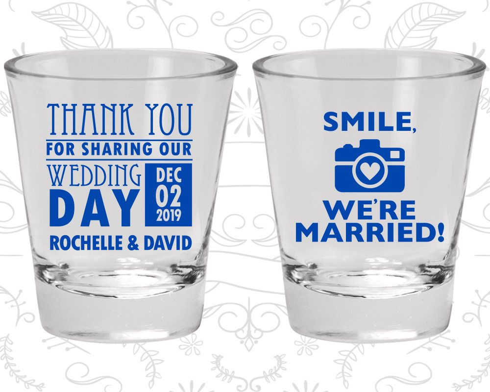 Wedding Shot Glass Favors, Thank You For Coming, Wedding Favors ...