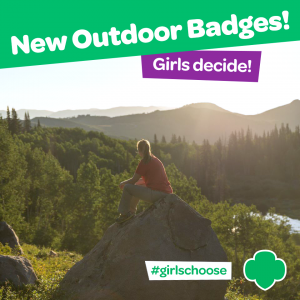 Girl Scouts Get Out the Vote (New Outdoor Badges) Girl