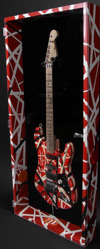 van halen bass guitar display cases frames pinterest guitar van halen and eddie van halen. Black Bedroom Furniture Sets. Home Design Ideas