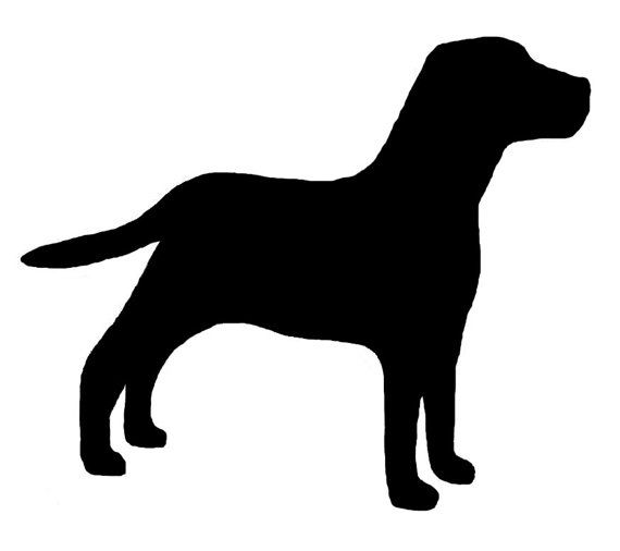 Labrador Retriever Dog Lab Profile Silhouette Window Decal Black