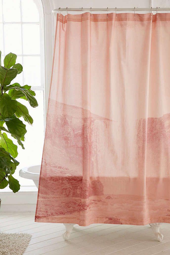Copper Shower Curtain Hooks Set Waterfall Shower Shower Curtain