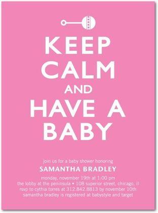 Baby shower invitation, Regal Rattle: Heather