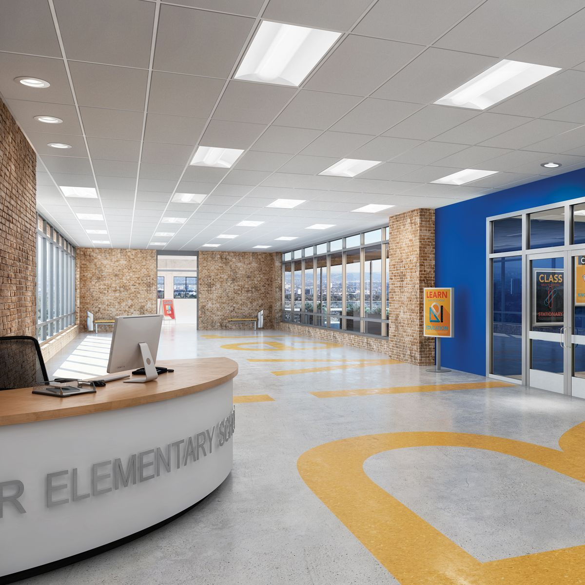 affordable and efficient led lighting for schools and institutions metalux cruze ambient lighting fixtures