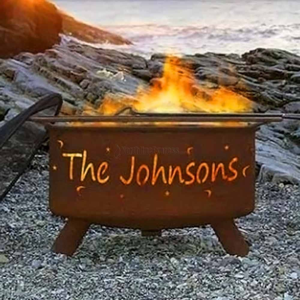 The Little Stars And Moons Personalized Fire Pit Will Help You Express Yourself In The Outdoors This Stylish Fi Fire Pit Stars And Moon Outdoor Gathering Area