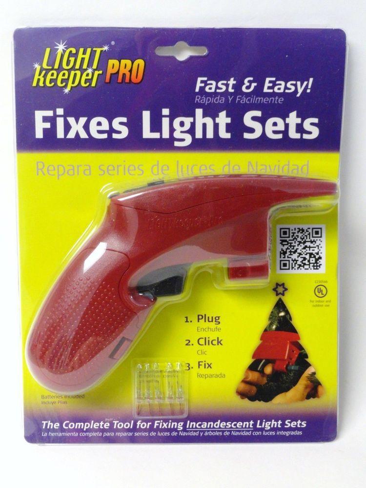 Light Keeper Pro Incandescent Christmas Tree Light String Set Repair Fix  Tool #UltraLitTechnologiesInc - Light Keeper Pro Incandescent Christmas Tree Light String Set Repair