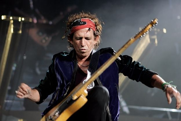 Performing Keith. | 33 Rocking Pictures To Celebrate Keith Richards' 70th Birthday