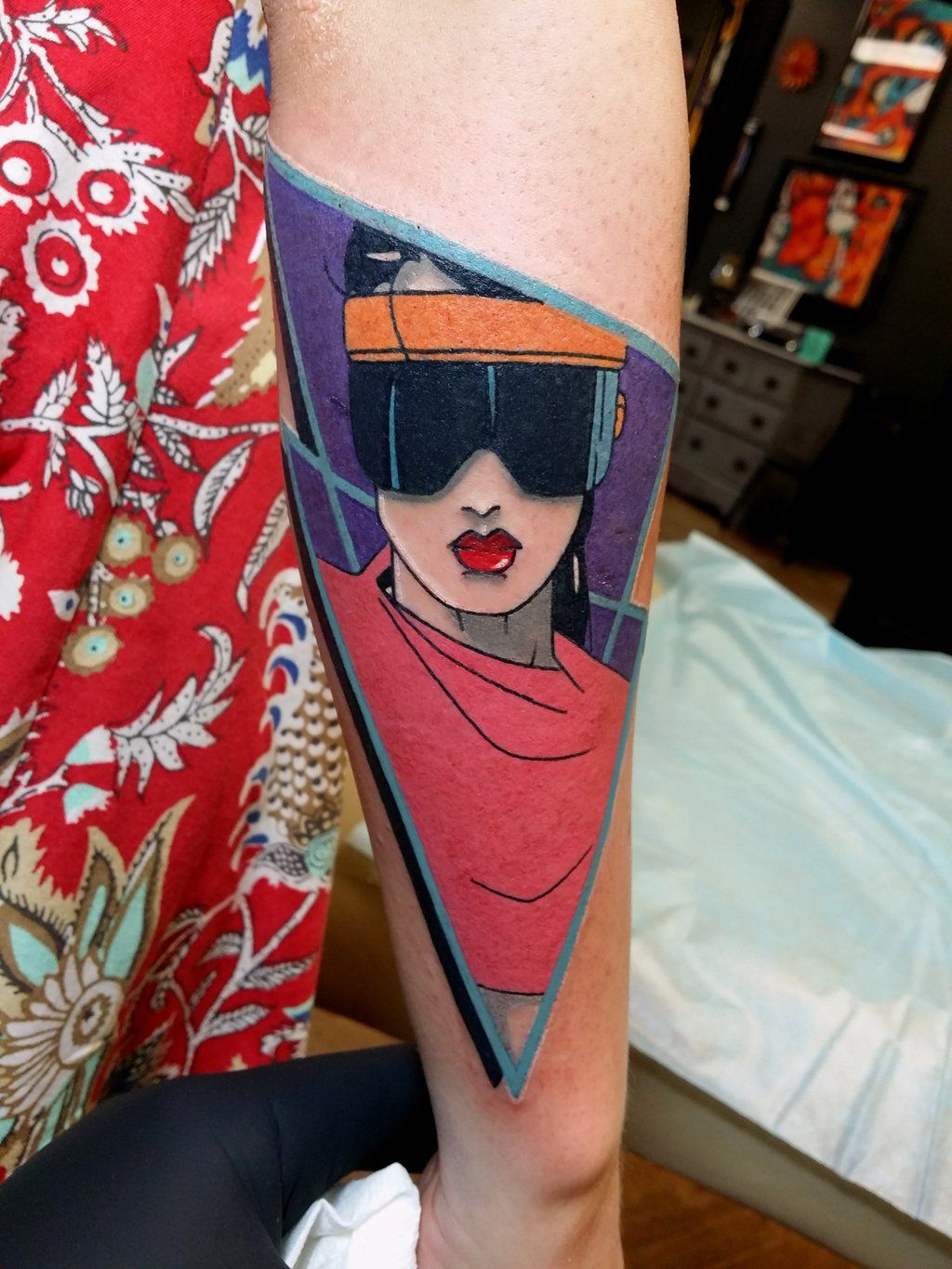 This Rad tattoo of Patrick Nagel's work by Steve Rieck fits here perfectly