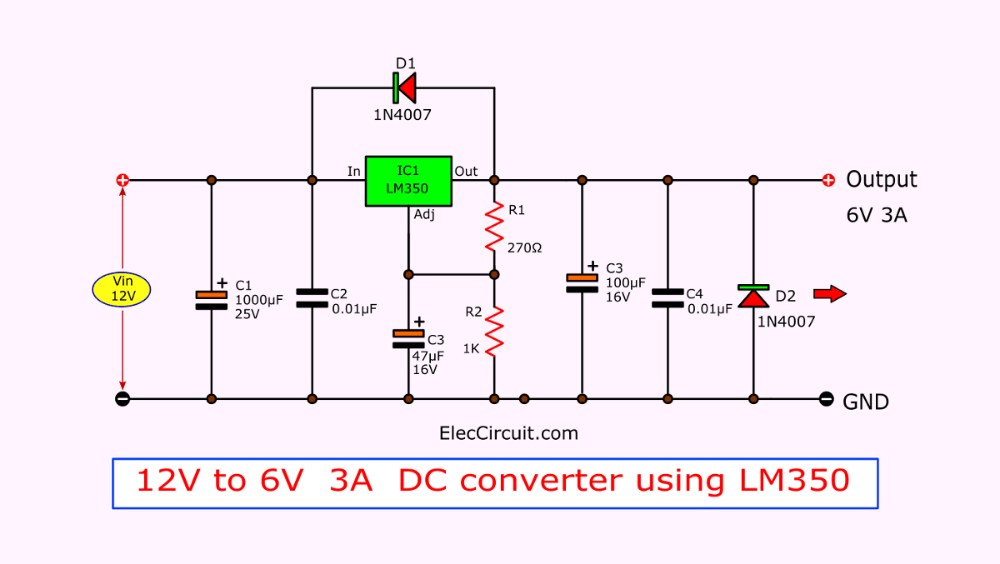 8 How To Convert 12v To 6v Step Down Circuit