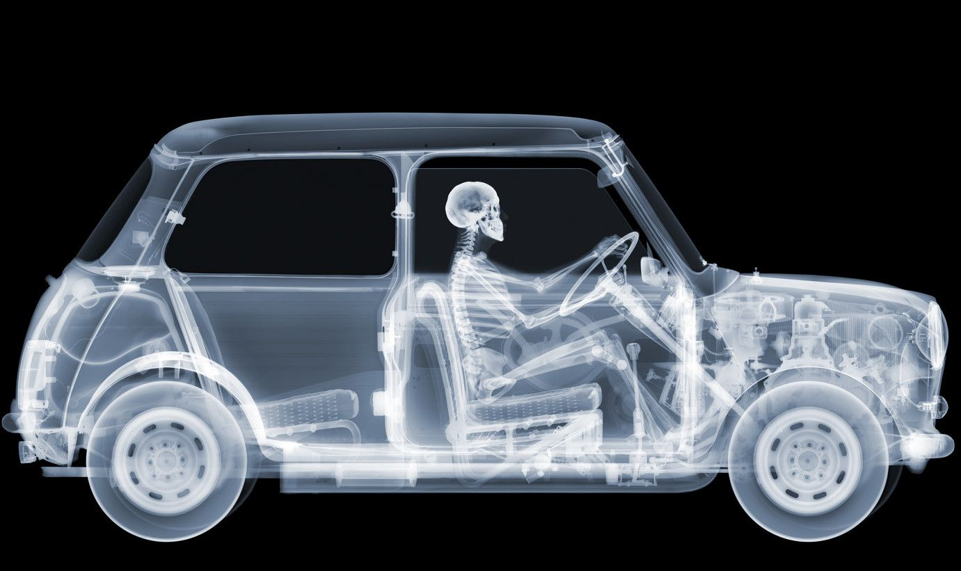 """Mini Driver July 2012 C-Type Print 2000 x 1189mm (79 x 47"""") Edition of 5 Nick Veasey"""
