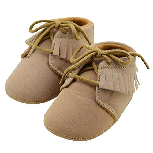 Voberry Baby Girls Genuine Leather Soft Sole Shoes 912months Brown Continue To The Product At The Image Link This I Baby Shoes Baby Girl Shoes Girls Shoes