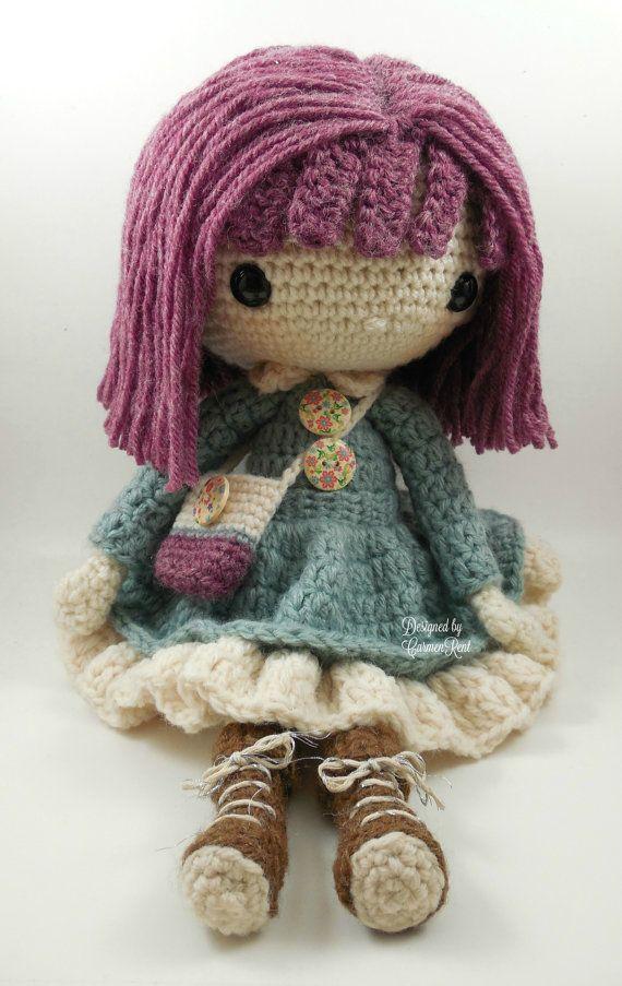 Kendra- Amigurumi Doll Crochet Pattern PDF | Pinterest
