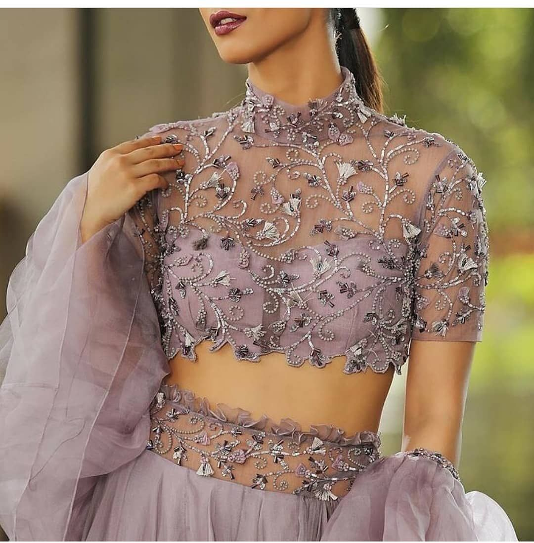 Beautiful Net Blouse Designs Collection 2020 Latest Blouse Design Blouse Designs Images In 2020 Netted Blouse Designs Lehenga Blouse Designs Lengha Blouse Designs