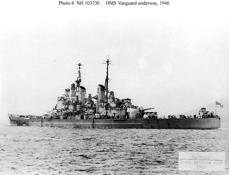 Hms Vanguard 23 Fast Battleship Pictures Gallery Royal Navy Ships Hms Vanguard Battleship